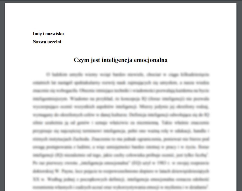 Esej: Czym jest inteligencja emocjonalna