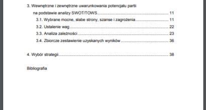 Praca dyplomowa: Analiza strategiczna Sojuszu Lewicy Demokratycznej