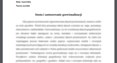 Referat: Istota i zastosowanie geowizualizacji