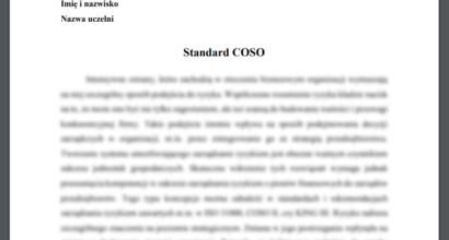 Esej: Standard COSO