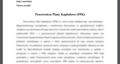 Esej: Pracownicze Plany Kapitałowe (PPK)