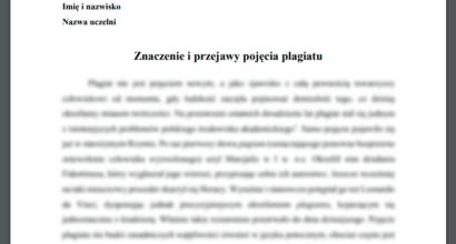 Esej: Znaczenie i przejawy pojęcia plagiatu
